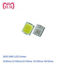 100 sztuk LED SMD 2835 biały układ 1W 3V 6V 9V 18V 36V Ultra jasny SMT montaż powierzchniowy PCB emitowanie światła lampa diodowa