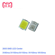 100pcs SMD LED 2835 White Chip 1W 3V 6V 9V 18V 36V  Ultra Bright SMT Surface Mount PCB Light Emitting Diode Lamp