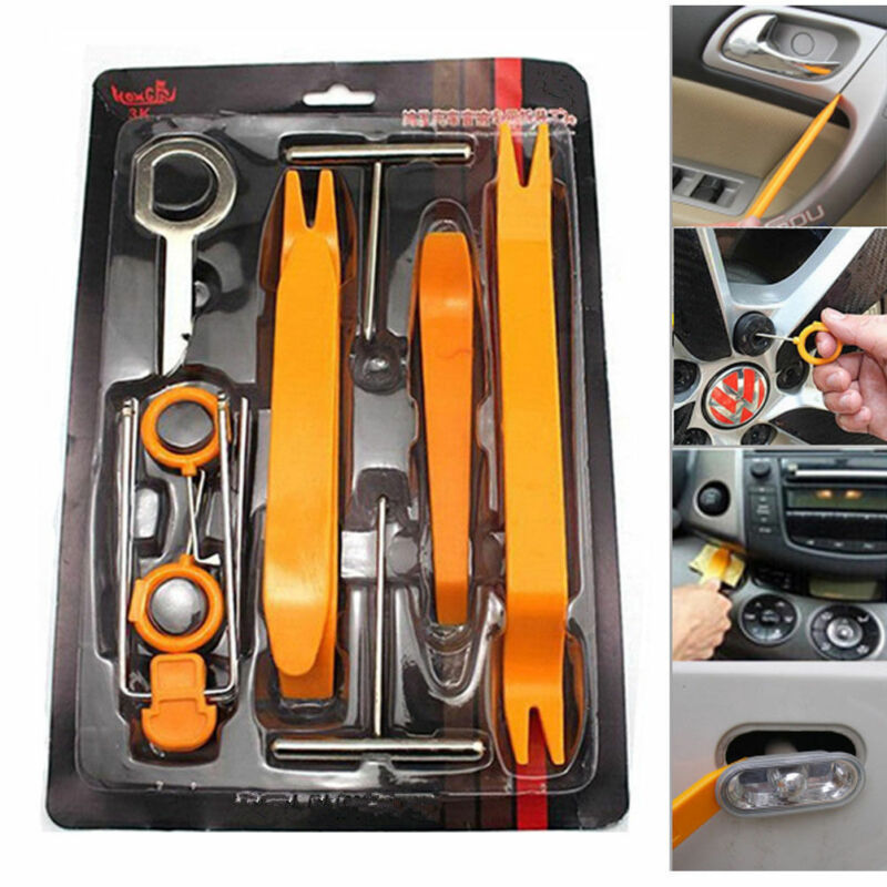 12Pcs Car Audio Disassembly tool Auto Panel Trim Dash Removal Open Installer Repairing Pry Tools Kit Plastic