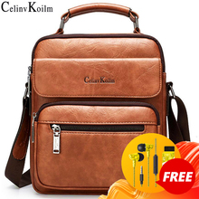 Celinv Koilm Big Size Mens Handbags Famous Brand Man Leather Crossbody Shoulder Messenger Bag For 9.7 inch iPad Casual Business