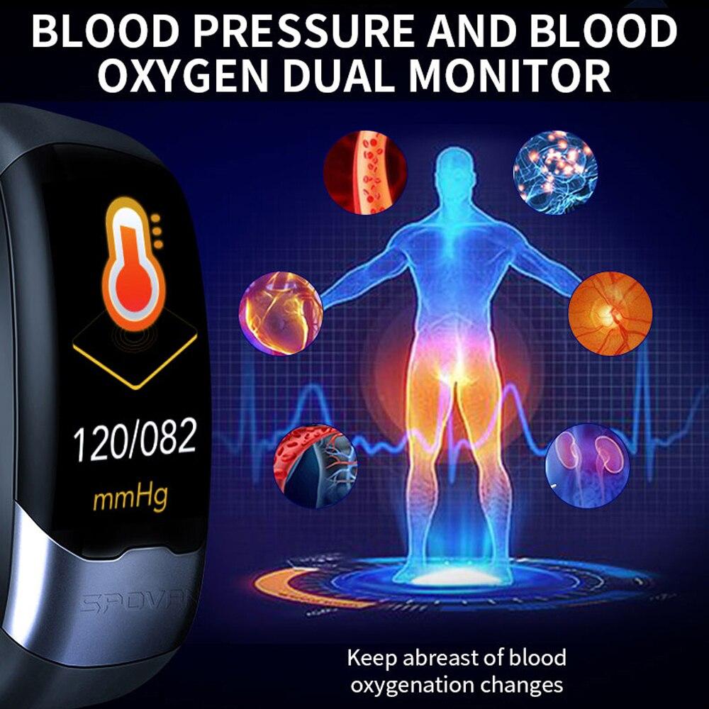 ECG PPG Bracelet intelligent HRV fréquence cardiaque moniteur de pression artérielle bande intelligente hommes IP67 étanche en cours d'exécution natation Sport bracelets - 6