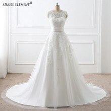 Princess vestido de noiva Detachable Train Two Piece Wedding Dress Bridal 2 in 1 Ball Gown Dresses
