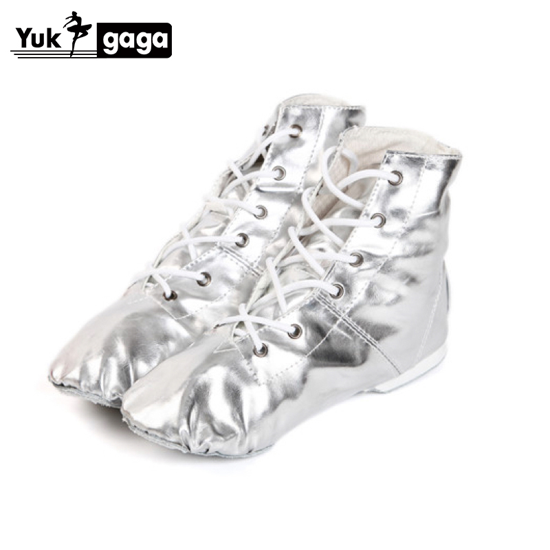 Belly Dance Boots Girls Ladies Gold Silver Colors Jazz Dance Shoes Soft Split Soles Pole Dance Shoes Ballet Shoes