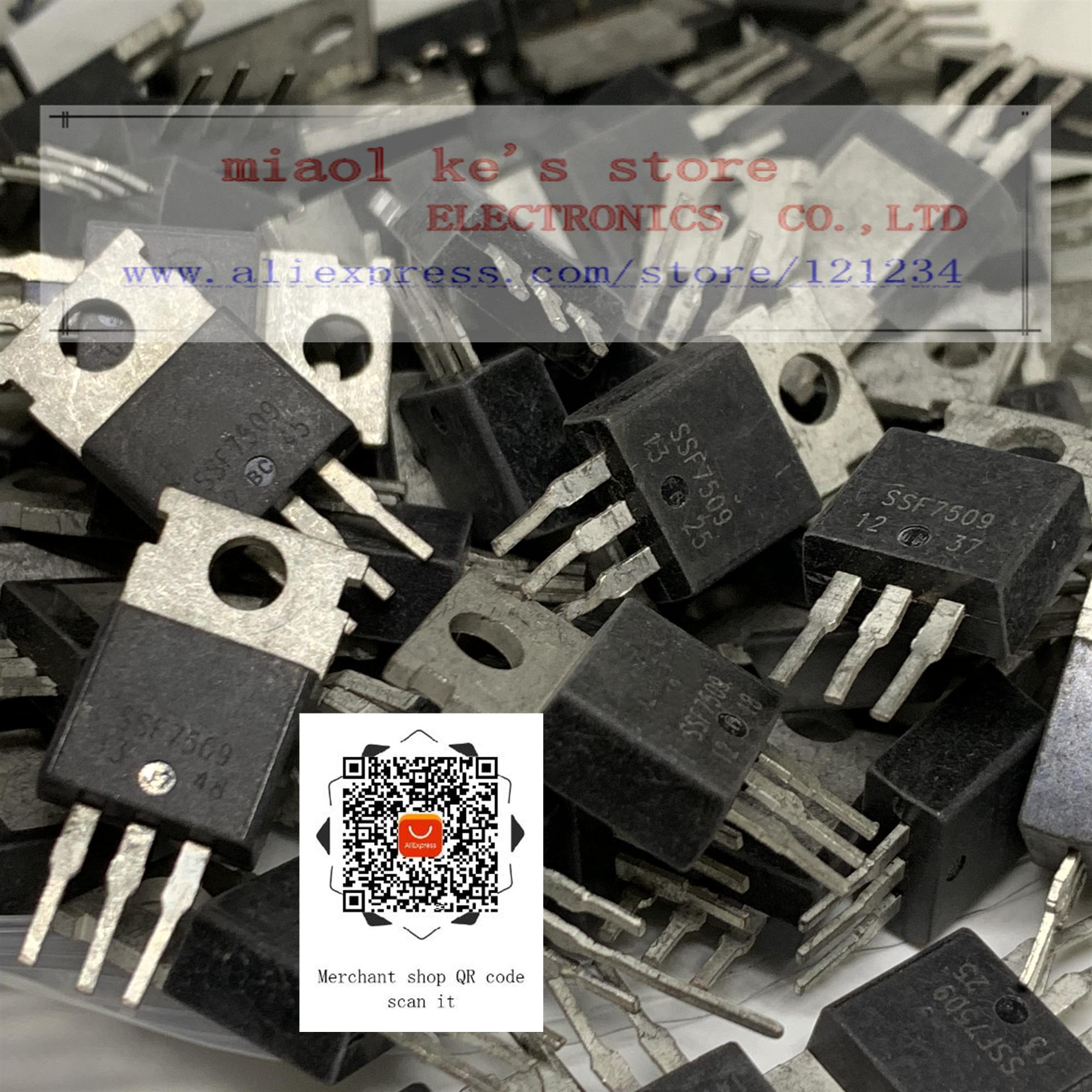 [50pcs~100pcs] 100% Original: SSF7509 SF7509 7509 [ Used Goods ]-FET 80A 80V N-channel Triode