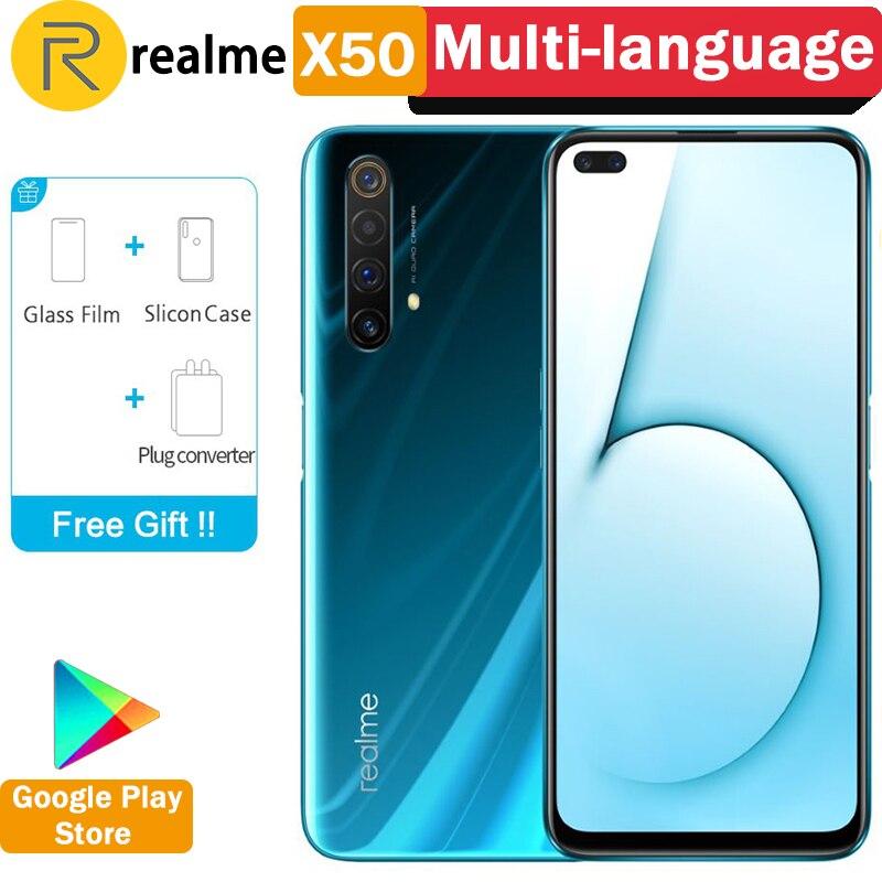 "Original Realme X50 5G Smartphone Snapdragon 765G 120Hz 6.57"" Full Screen 64MP 6 Cameras 20X Zoom 30W VOOC Flash Charge 4.0|Cellphones|   - AliExpress"