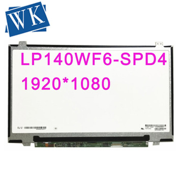 Free shipping LP140WF6-SPD4 LP140WF6 SPD4 SPD1 SPD2 SPD3 IPS 1920*1080 EDP 30pins Laptop LCD screen