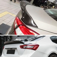 Carbon Fiber for Ghibli Spoiler Rear Roof Wing Car Tuning Racing Bootlid Fit For Maserati for Ghibli 3.0T S Q4 2014 2016