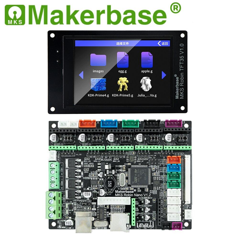 Makerbase MKS روبن نانو 32Bit لوحة تحكم ثلاثية الأبعاد أجزاء الطابعة دعم Marlin2.0 3.5 شاشات تعمل باللمس tft واي فاي التحكم معاينة Gcode