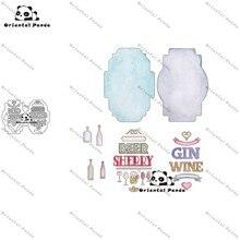 New Dies 2020 Bottle Labels Metal Cutting diy photo album  cutting dies Scrapbooking Stencil Die Cuts stamps and