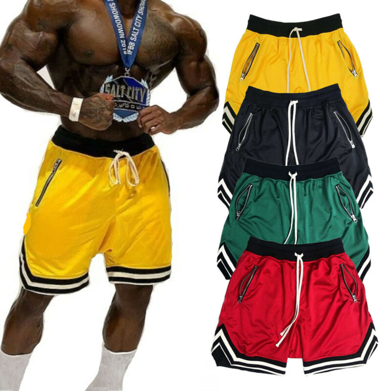 Arrival Men's Summer Sports Shorts Gym Training Bodybuilding Pants Jogging Running Breathable Fitness Short Trousers M-3XL