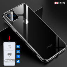 Silicon Case For iPhone 11 Pro Max X XR 8 7 Plus Case Soft Transparent Back Cover For iPhone 11 2019 XS Max Clear Phone Case цена