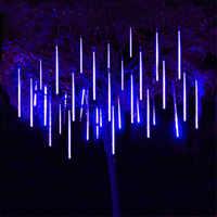 Luces LED 30CM 50CM tubo lluvia de meteoritos 8 tubos guirnalda árboles de Navidad decoración exterior jardín Parque calle Luces Navidad