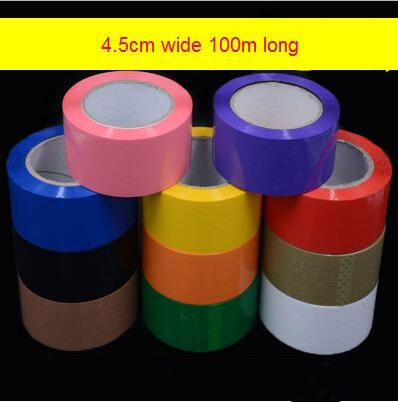 1 Roll  4.5cm Wide 100m Long Colored Tape  Customizable Plus Logo Printing Color Separation Tape Foreign Trade Export Tape