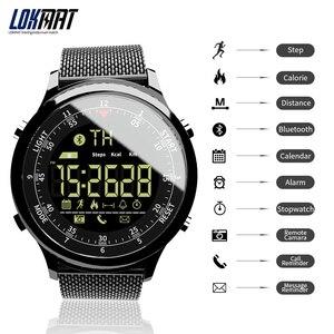 Image 2 - LOKMAT Bluetooth חכם שעון עמיד למים ספורט גברים דיגיטלי שעון במיוחד ארוך המתנה שיחת תזכורת Smartwatch עבור Ios ו android
