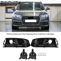 For Audi A4 S4 S Line B9 Front Fog lamp Mask grill Cover Front bumper Fog Lights Grille 2017 2018 Not Standard A4
