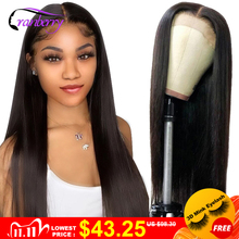 Brazilian Straight Closure Wig Human Hair Wigs For Black Women Cranberry Hair 4x4 Closure Wig Part Lace Wig Pre Plucked Hairline