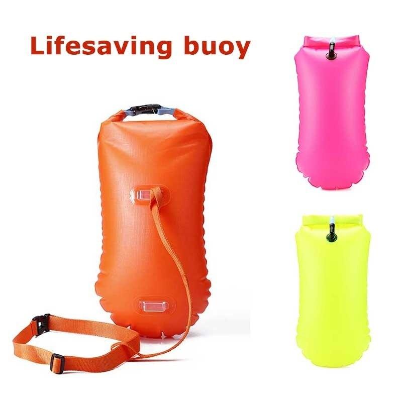 Swimming Lifesaving Buoys, Multifunction Stooge Swimming Bag Swimming Bags Drifting Floats Fishing Diving Drifting Water Sports