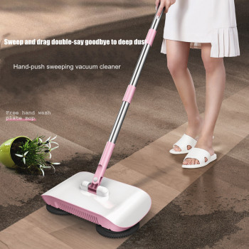 Broom Robot Vacuum Cleaner Floor Home Kitchen Sweeper Mop Sweeping Machine Magic Handle Household Lazy Wash Dropshipping Carpet