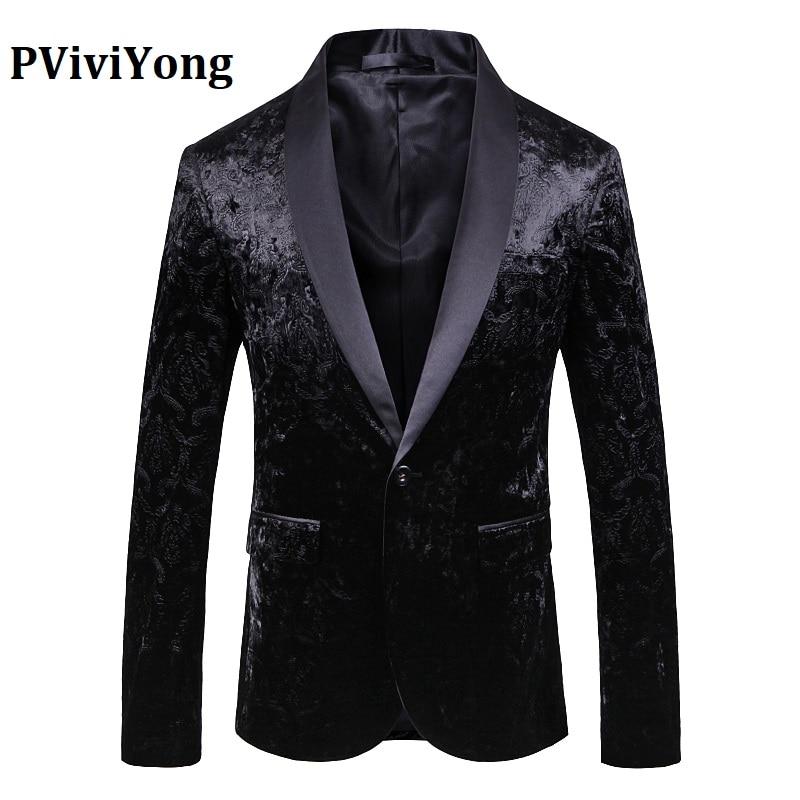 PViviYong Brand 2019 High Quality Suit Top For Men,men Blazer British Style Wedding Suit Men Slim Fit Suit Jacket Men 1911