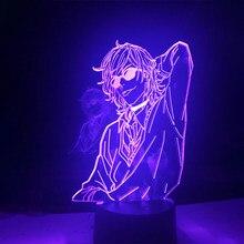 Acrílico lâmpada 3d bl anime yarichin cadela clube yuri ayato luz da noite luz yarichin cadela clube lâmpada yuri ayato para a decoração do quarto de cama
