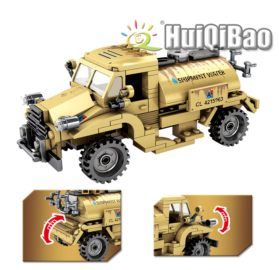 "конструктор huiqibao ""армейский заправщик"", 284 шт."