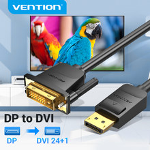 Vención de La DisplayPort a DVI Cable DP a DVI-D 24 + 1 Cable 1080P DP Macho a DVI macho a Cable de Monitor proyector DP a DVI Cable