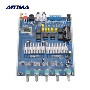 AIYIMA APTX Bluetooth 5.0 Subwoofer Amplifier Audio Board 50Wx2+100W TPA3116 2.1 Power Sound Speaker Amplifies Home Mini AMP aiyima aptx qcc3008 bluetooth 5 0 amplificador audio amp tpa3116 hifi power amplifier 50wx2 100w 2 1 channel subwoofer amplifier