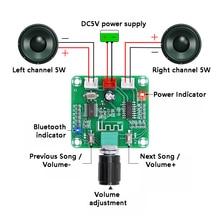 Placa do amplificador de bluetooth 5.0 hd pam8403 potência diy sem fio alto falante classe d amplificadores módulo duplo canal estéreo 2*5w dc5v