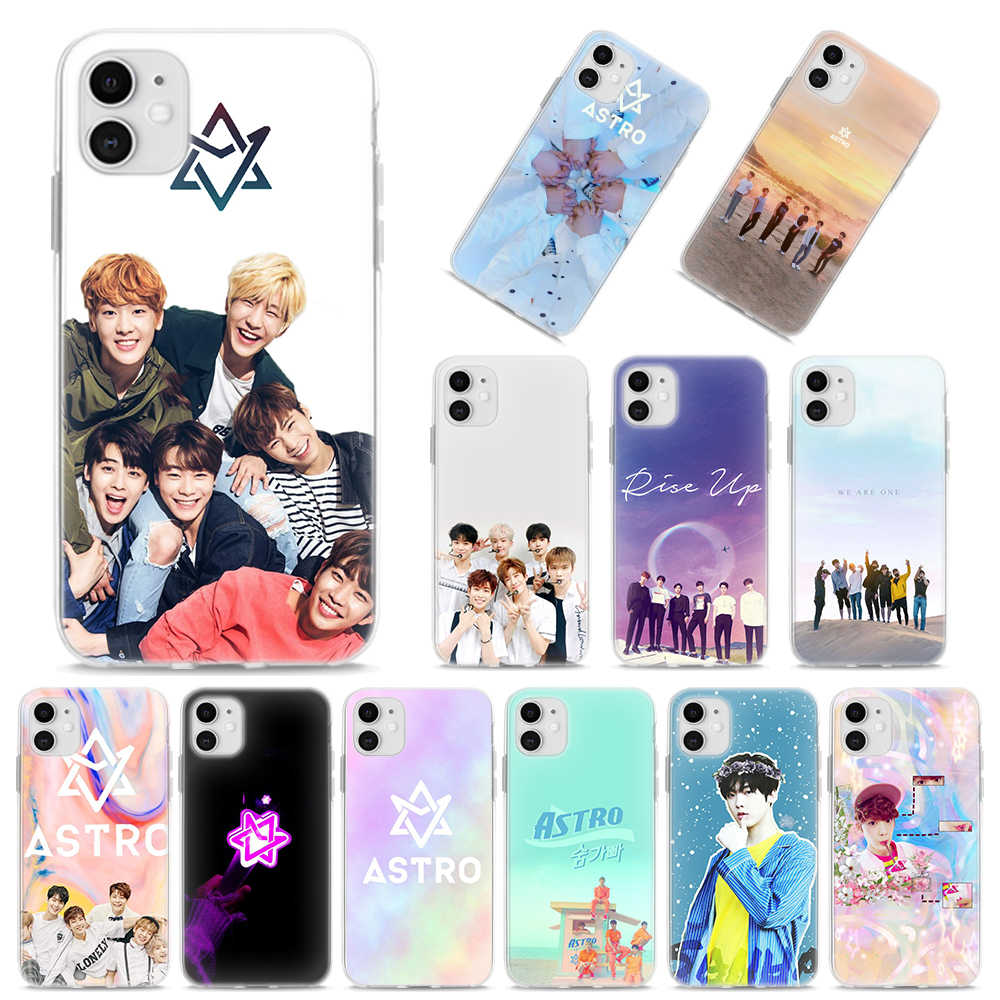 Astro Kpop Music Bank miękkie etui na Apple iPhone 11 Pro MAX X XR XS MAX 7 8 Plus 6 6S Plus 5S SE silikonowa osłona
