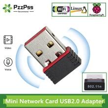 PzzPss-Mini tarjeta de red USB 2,0, adaptador inalámbrico WiFi, tarjeta LAN de red de 150Mbps, ngb 802,11, adaptador RTL8188EU para PC de escritorio