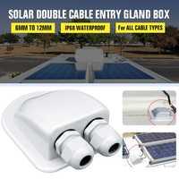 6 à 12mm étanche ABS solaire Double Double Double deux trous câble entrée glande boîte incurvé câble connecteur support pour Rv camping-car bateau