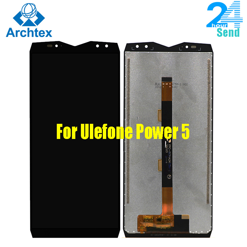 For Original <font><b>Ulefone</b></font> <font><b>Power</b></font> <font><b>5</b></font> LCD Display + Touch <font><b>Screen</b></font> Digitizer Assembly Tools FHD 6.0