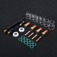 Tig soldagem stubby gás lente #12 pyrex copo kit para tig WP-17/18/26 peças da tocha