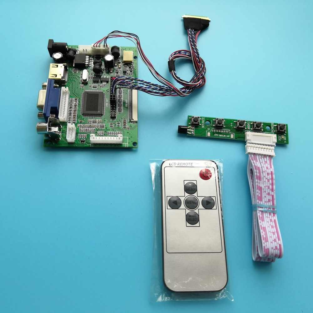 "Werk Voor B156XW02 15.6 ""1366 × 768 40pin Hdmi Vga 2AV Lcd Remote Scherm Led Panel Display Controller Board kit"