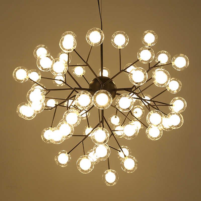 Yeni Modern LED firefly sputnik avize işık şık ağaç dalı avize lamba dekoratif tavan chandelies asılı