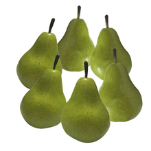 1/6PCS Artificial Fruit Pear EVA Plastic Shop Supermark Decoration Mini Fake Fruits And Vegetables Props