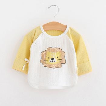Wiosna jesień noworodek ubrania dla niemowląt odzież dla niemowląt dziewczynki chłopcy koszulki dla dzieci z krótkim rękawem Tshirt letnie chłopięce topy tanie i dobre opinie Na co dzień COTTON Pasuje prawda na wymiar weź swój normalny rozmiar O-neck Pełna Cartoon Unisex