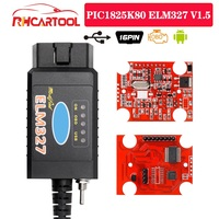 Herramienta de diagnóstico de coche, accesorio para Ford FTDI chip con interruptor HS/MS OBD 2 CAN para Forscan y elm 327 versión USB, PIC1825K80 ELM327 usb V1.5