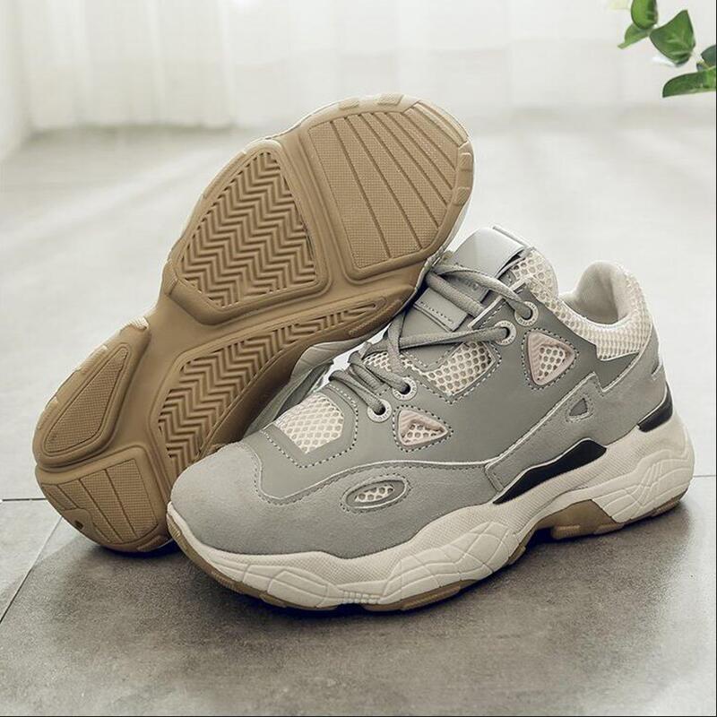 Женские кроссовки на массивной платформе; женская повседневная обувь из вулканизированной кожи; обувь знаменитостей; Модные женские