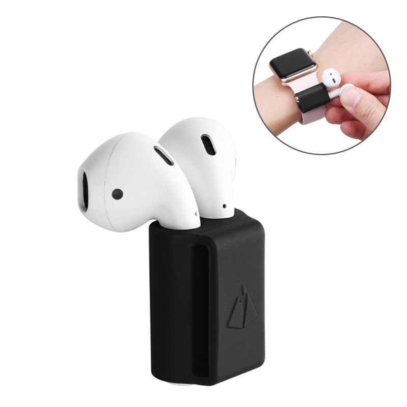 Anti-lost Silicone Holder for AirPods Case Holder Portable Anti-lost Strap Case for Apple AirPod Headphones Accessories