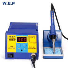 WEP 939BD Quick Heating Electroic Soldering Iron Digital Soldering Iron Soldering Station DIY Kit Tools Temperature Ajustable