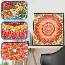 Embroidery Diamond 5D DIY Painting Flowers Cross Stitch Kits Full Square Round Mosaic Special Shaped Mandala