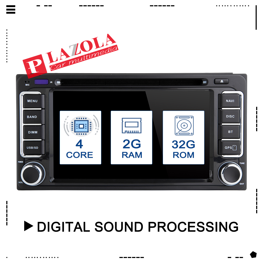 AutoRadio 2 din Android 9.0 Car Stereo DVD Player For Toyota Land Cruiser <font><b>100</b></font> <font><b>200</b></font> Corolla 150 RAV4 Hilux Prado 120 Yaris Camry image