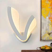 Modern Acrylic Leaf Wall light Children\'s Room Bedside Bedroom Wall Lamps Arts Creative Corridor Aisle Sconce Decor AC85-265V - DISCOUNT ITEM  49% OFF Lights & Lighting