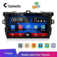 Camecho Android 8.1 2.5D Car Radio 9 Bluetooth GPS Multimedia Player for 2006 2007 2008 2009 2010 2011 2012 Toyota Corolla