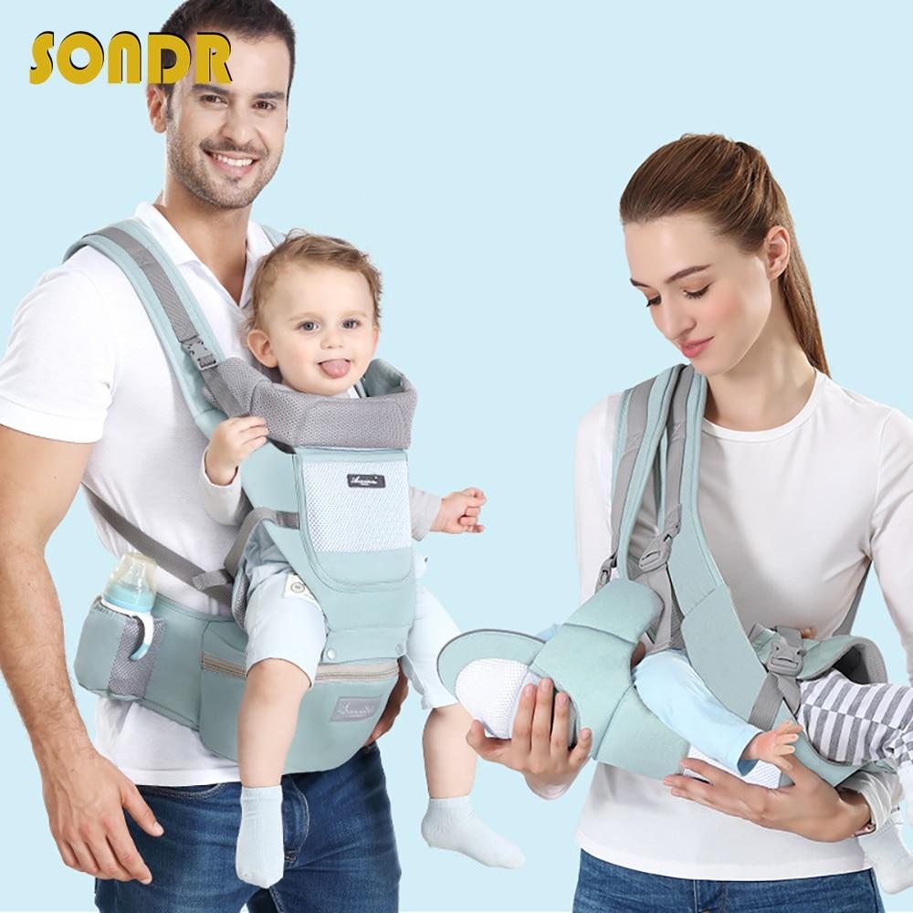 SONDR Portable Baby Kangaroo Breathable Cotton Multiple Colour Ergonomic Hip Seat Baby Carrier Bebe Accessories 0-30 Months