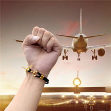 MKENDN Hot Sale Stainless Steel Airplane Anchor Bracelets Men Women Genuine Multilayer Leather Bracelet Freestyle Homme Jewelry цена