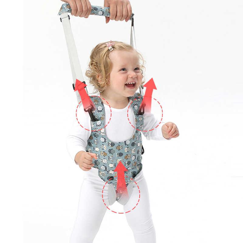 Nadruk kreskówkowy chodzik dla dzieci uprząż asystent spaceru wzór sowa maluch wielofunkcyjny pas do nauki chodzenia zdejmowane krocze