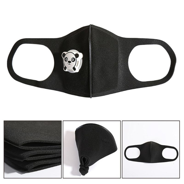 1Pcs Mouth Mask Children Kids Thicken Sponge Face Mouth Mask Anti Dust Pollution PM2.5 Respirator with Panda Shape Breath Valve 3