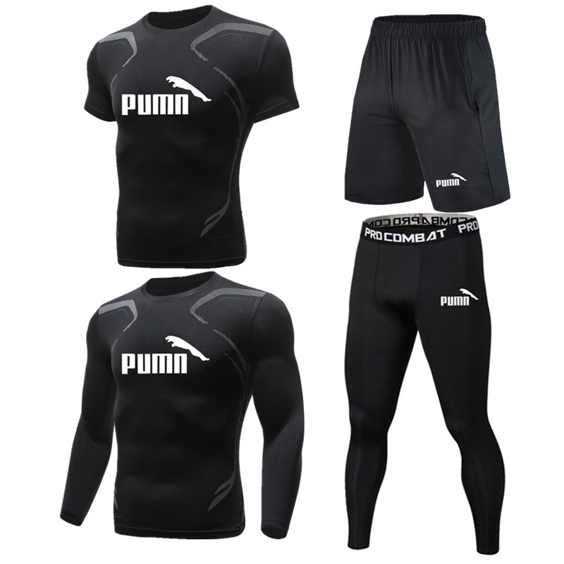 Men Sportswear Compression Sports Suits Quick Dry Running Sets Clothing Sports Joggers Training Gym Fitness Tracksuits Running